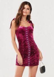 Crushed Velvet Mini Dress by Forever 21 at Forever 21
