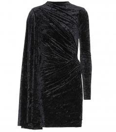 Crushed velvet minidress at Mytheresa