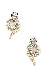 Crystal Baby Snake Studs at Shop Design Spark