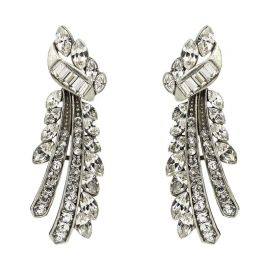 Crystal Branch Post Earrings by Ben-Amun at Amazon
