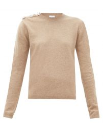 Crystal Button Cashmere Sweater by Ganni at Matches