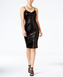 Crystal Doll Juniors  Sequined Bodycon Dress at Macys