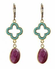 Crystal Elegance Earrings at Peggy Li