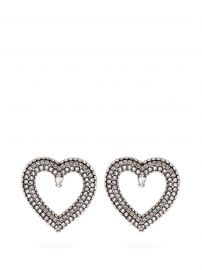 Crystal-Embellished Heart Earrings by Balenciaga at Matches