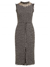 Crystal-Embroidered Tweed dress by Alexander McQueen at Matches