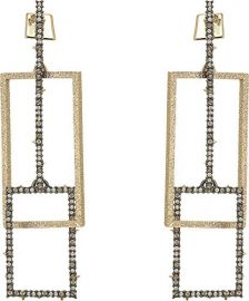 Crystal Encrusted Brutalist Link Post Earring at Alexis Bittar