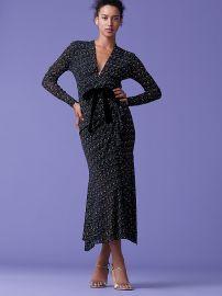 Crystal Front Tie Dress at Diane von Furstenberg