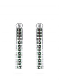Crystal Web drop earrings by Gucci at Matches
