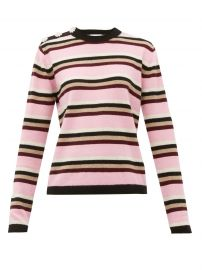 Crystal-button cashmere sweater at Matches