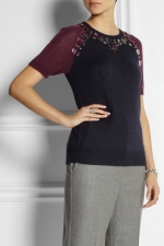 Crystal embellished knitted top by J Crew at Net A Porter