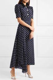 Crystal-embellished polka-dot silk-georgette maxi dress at Net A Porter