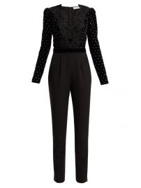 Crystal-embellished velvet jumpsuit at Matches