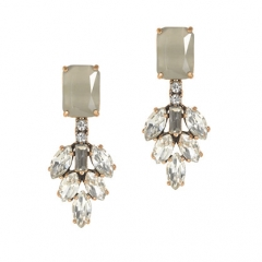 Crystal leaves earrings at J. Crew