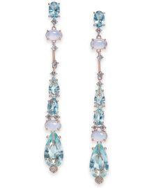 Cubic Zirconia Linear Drop Earrings at Macys