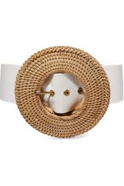 Cult Gaia - Gemma leather and rattan belt at Net A Porter