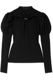 Cult Gaia - Mora embellished cutout ribbed cotton sweater at Net A Porter