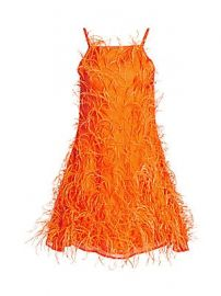 Cult Gaia - Shannon Feather Mini Dress at Saks Fifth Avenue