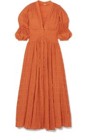 Cult Gaia - Willow shirred cotton-blend maxi dress at Net A Porter