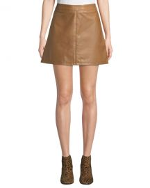 Cupcakes and Cashmere Marrie Leather Mini Skirt at Neiman Marcus