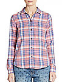 Current Elliott - Plaid Button-Down Shirt at Saks Off 5th