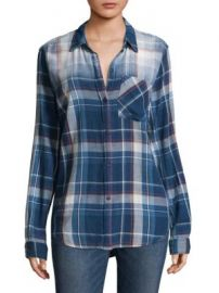 Current Elliott - Plaid Cotton Button-Down Shirt at Saks Fifth Avenue