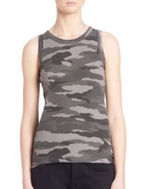 Current Elliott - Sleeveless Camo Muscle Tee at Saks Fifth Avenue