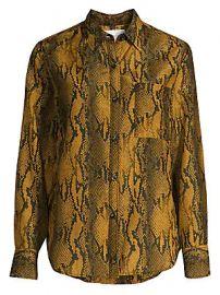 Current Elliott - The Neal Python Print Silk-Blend Shirt at Saks Fifth Avenue