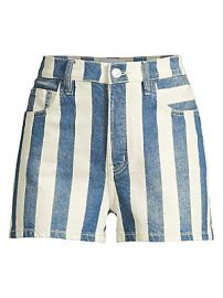 Current Elliott - The Westside Striped Shorts at Saks Fifth Avenue