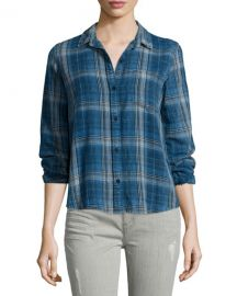 Current Elliott Abbot Plaid Shirt at Neiman Marcus