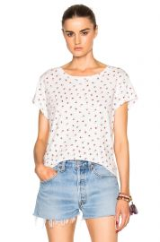 Current Elliott Crew Neck Tee in Dirty White Rose Ditsy at Forward