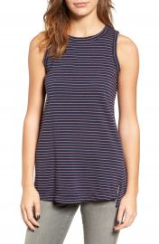 Current Elliott The Muscle Tee Stripe Tank at Nordstrom