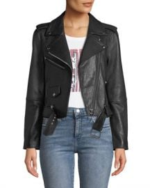 Current Elliott The Shaina Leather Biker Jacket at Neiman Marcus