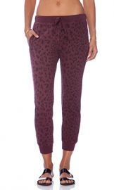 Current Elliott The Slim Vintage Sweatpant in Garnet Leopard from Revolve com at Revolve