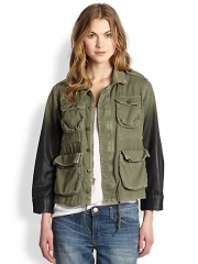 CurrentElliott - The Lone Soldier Coated Ombr Jacket at Saks Fifth Avenue