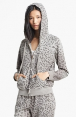 CurrentElliott Animal Print Hoodie at Nordstrom