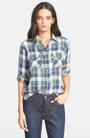 CurrentElliott The Perfect Plaid Shirt in Dixie Plaid at Nordstrom
