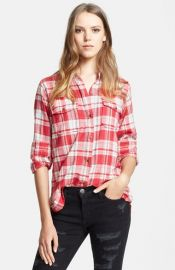 CurrentElliott and39The Perfect Shirtand39 Plaid Shirt at Nordstrom