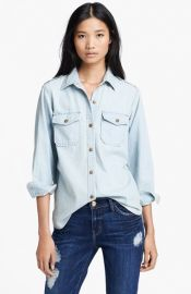 CurrentElliott and39The Perfectand39 Button Front Denim Shirt at Nordstrom