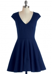 Curtsy for Yourself Dress in Cobalt at ModCloth