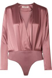 Cushnie - Wrap-effect silk-charmeuse bodysuit at Net A Porter