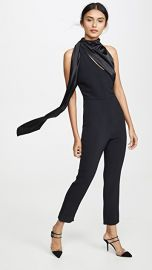 Cushnie Sleeveless Fitted Cropped Jumpsuit at Shopbop