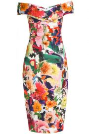Cushnie et Ochs Floral Dress at The Outnet