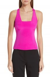 Cushnie et Ochs Square Neck Silk Tank Top   Nordstrom at Nordstrom