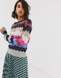 Custommade zigzag sparkly sweater at ASOS