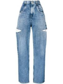 Cut out Detail Jeans by Maison Margiela at Farfetch
