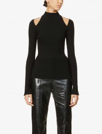 Cut-out shoulder stretch-jersey top at Selfridges