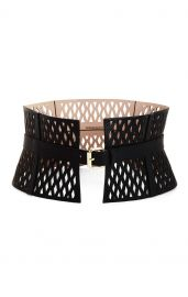 Cutout Faux-Leather Corset Waist Belt at Bcbg
