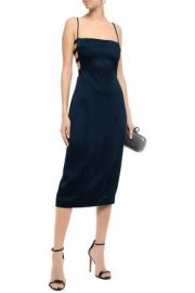 Cutout Hammered Satin Midi Dress by Cushnie at The Outnet