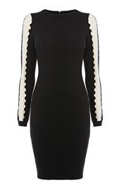 Cutout Stripe Dress at Karen Millen
