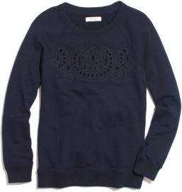 Cutout Sweatshirt at Madewell